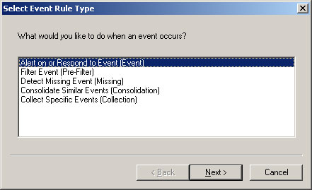 Create an Event Alert Rule